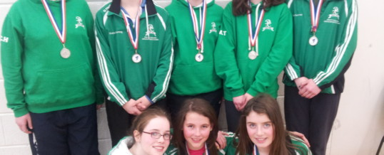 Girls U-13 Table Tennis Team win Connaught Silver Medals