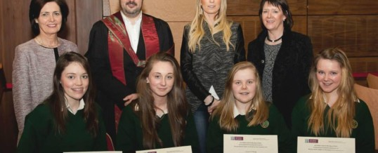 Davitt College, Castlebar Girls Honoured for Junior Certificate Business Marks